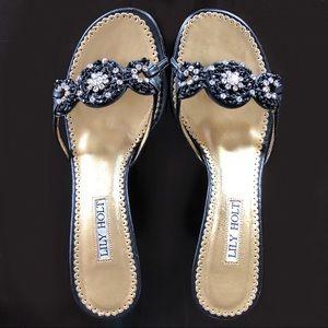 Lily Holt Kitten Heel Sandal